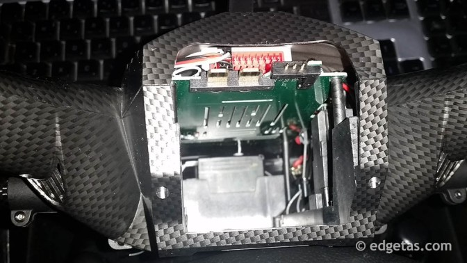 Scout X4 Battery compartment showing connections.
