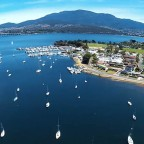 Aerial highlights around Hobart