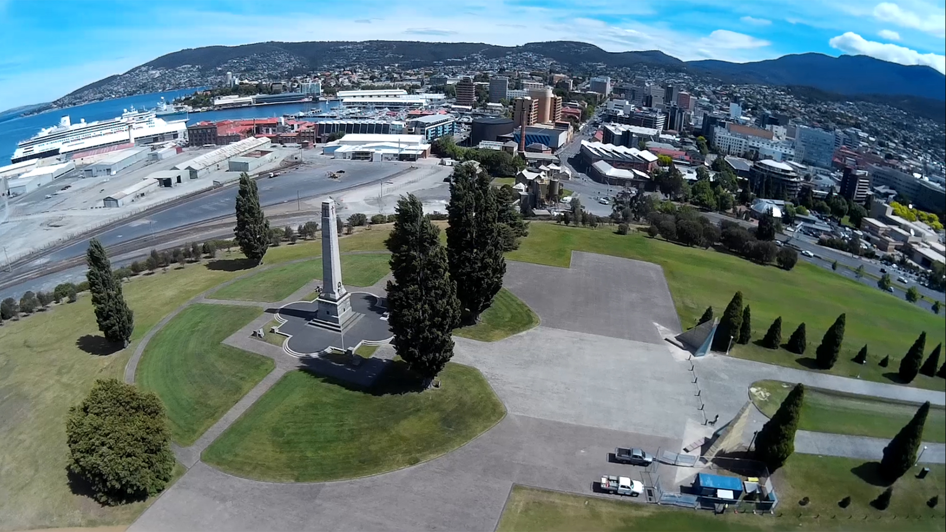 Hobart Cenotaph from the Scout X4 - still from iLook video.