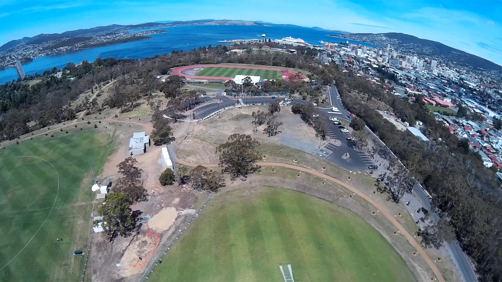 Queens Domain Hobart from the Scout X4 - still from iLook video.