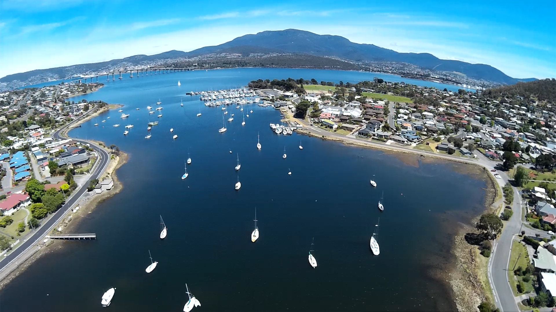 Lindisfarne Bay Hobart from the Scout X4 - still from iLook video.