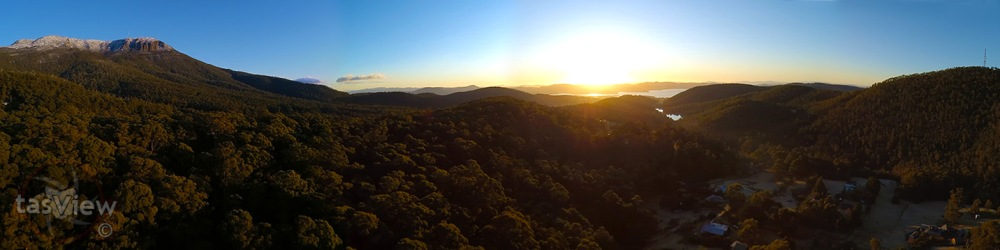Early morning panorama down the valley