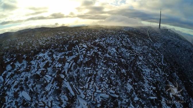 Closer shot of the bolder fields on Mt Wellington.