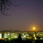 Moon-rise over Hobart